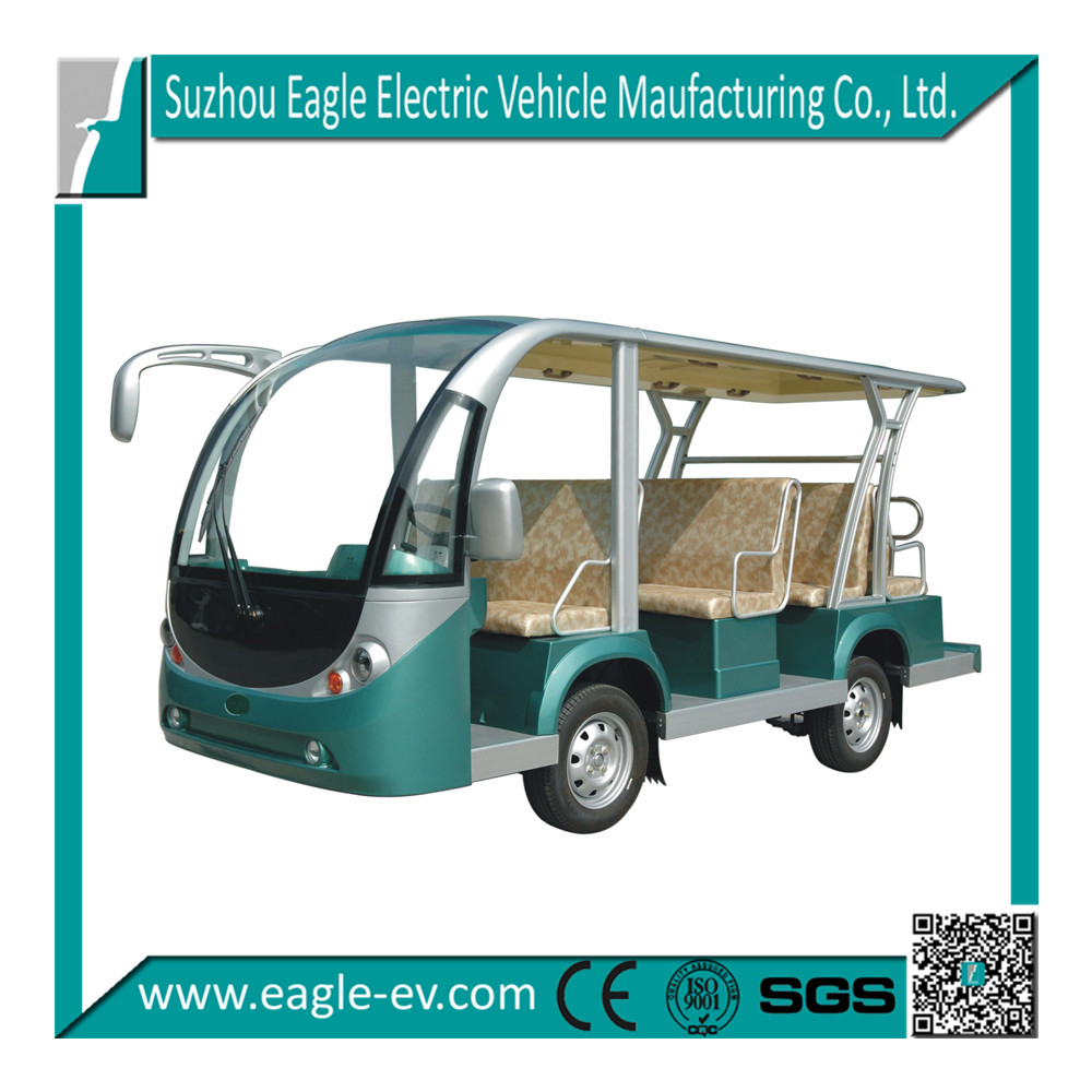 EG6118KA, 11 seats electric shuttle bus, zoo shuttle, sightseeing bus with automatic drive system