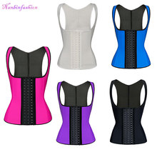 Plus Size Black Mature Ann Chery Slimming Best Latex Rubber Steel Boned Lcoking Waist Trainer Sexy Corset For Women