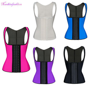 Plus Size Black Mature Ann Slimming Best Latex Rubber Steel Boned Locking Waist Trainer Sexy Corset For Women