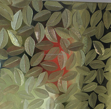 Colored Tempered Patterned Glass / Window Glass ( leaves / bamboo)
