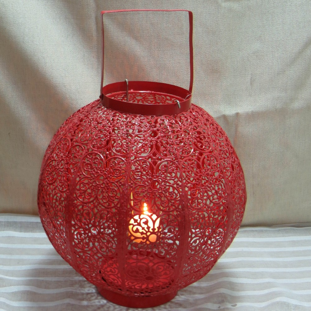 Galvanized Red Color South Africa Metal Vintage Candle Holder