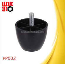 wooden grain plastic sofa leg replacement with M6 screw PP002