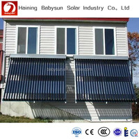 2015 high quality split pressurized balcony solar water heater, solar hot water collector for home use