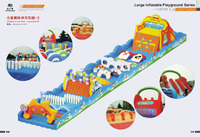 Child's park 3 - 2016 Latest giant/large customized animal inflatable playground Fun Park series for promotion for advertising