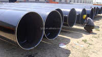 API 5L 3PP Lined Steel Pipe for oil and gas transportation, SSAW Mild Steel Pipes for Construction/water storag tank
