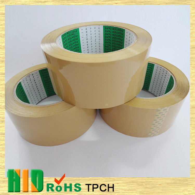 Hot sale top quality best price good adhension brown opp pack tape , adhesive tape printing machine