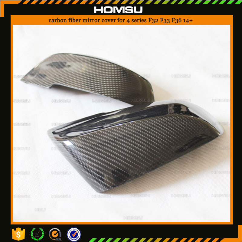 For bmw 4 SERIES union auto spare parts F32 F33 F36 body kit style Carbon Fiber car side view mirror covers