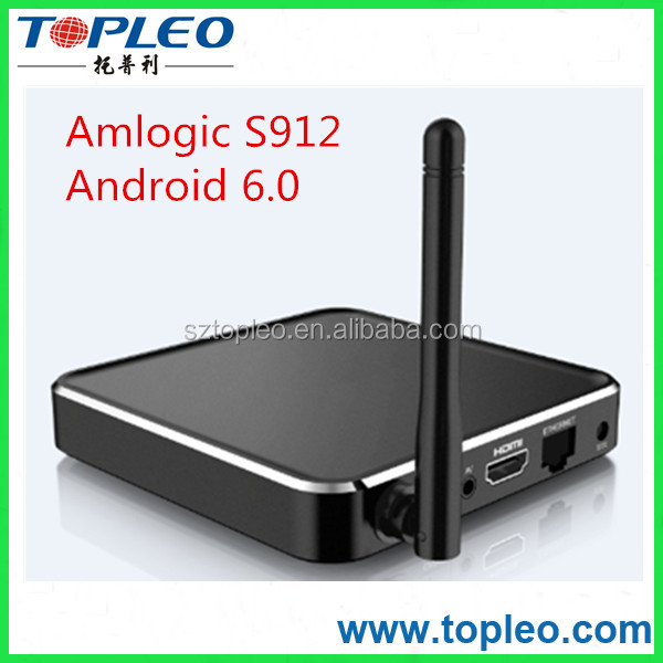 XBMC Kodi 16.1 Amlogic S912 T12 Octa core Smart Android TV Box 6.0 marshmallow