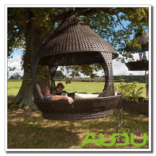 Audu Wicker Hanging Bed/Round Hanging Bed/Outdoor Hanging Bed