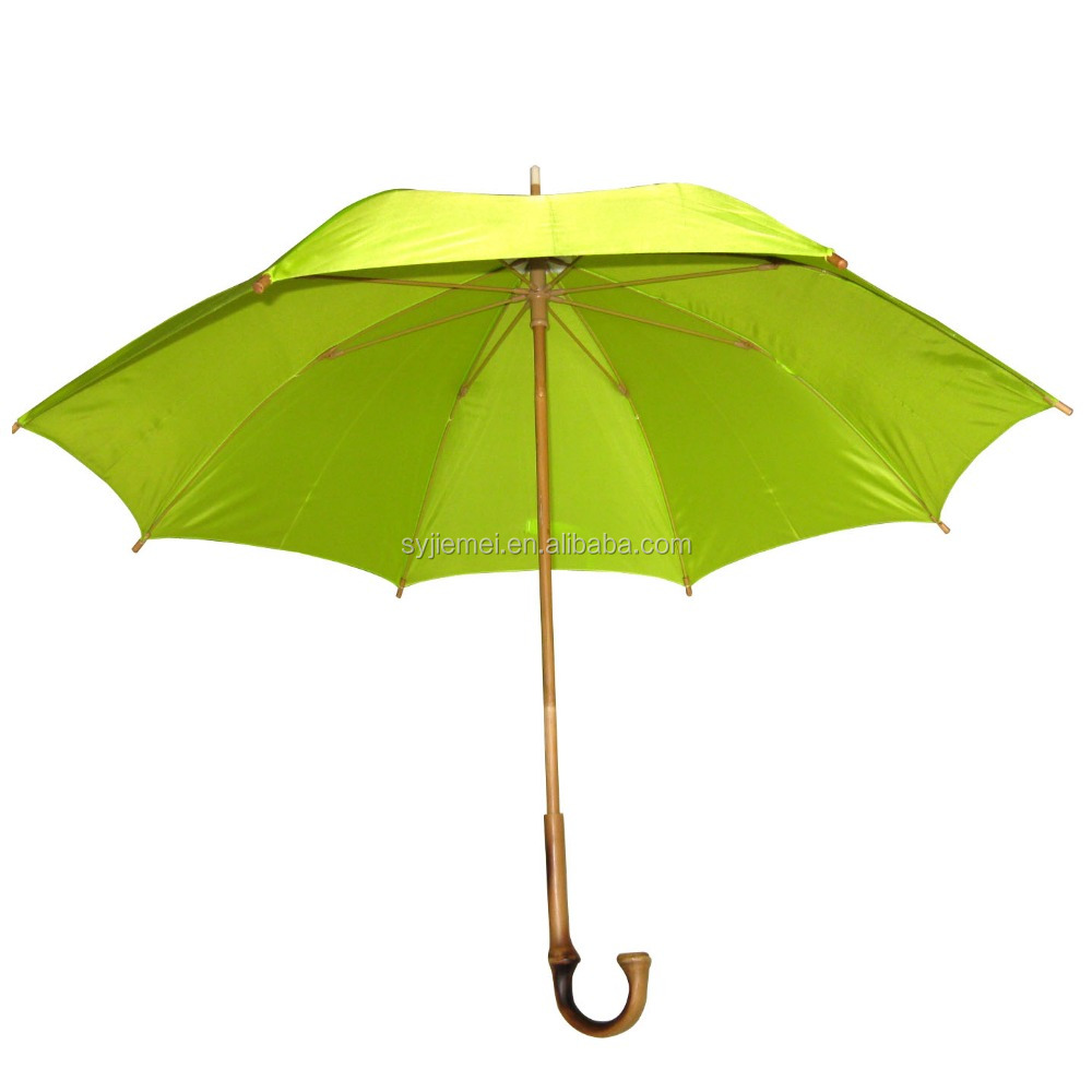 Special Stick Umbrella with Bamboo Material Handle