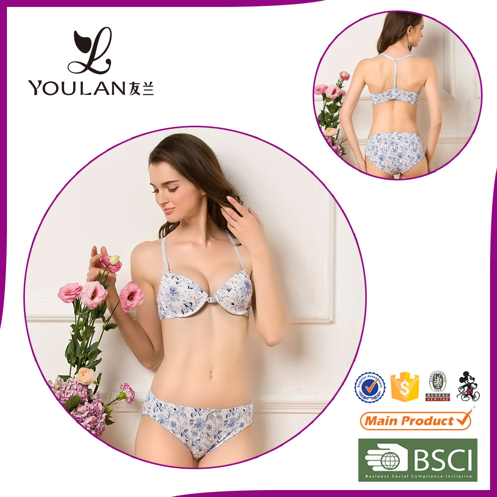 Print Front Closure new design sexy tube bra
