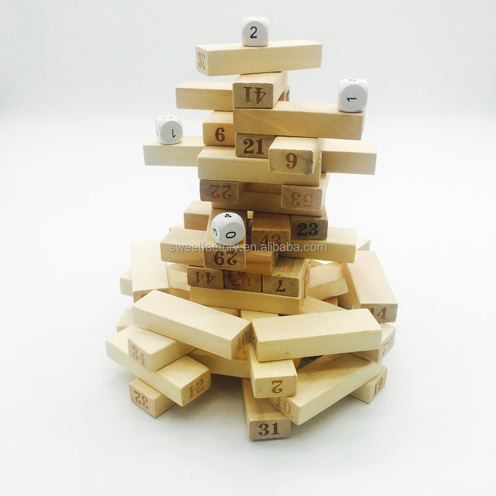 Wooden tower game toy EN71 for children