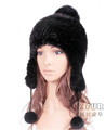 CX-C-122M Funny Knitted Mink Fur Women Winter Cap Hat Dropship