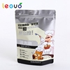 2017 High quality custom stand up gray snack packaging ziplock food bag