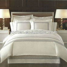 100% cotton hotel bleached white bedding fabric