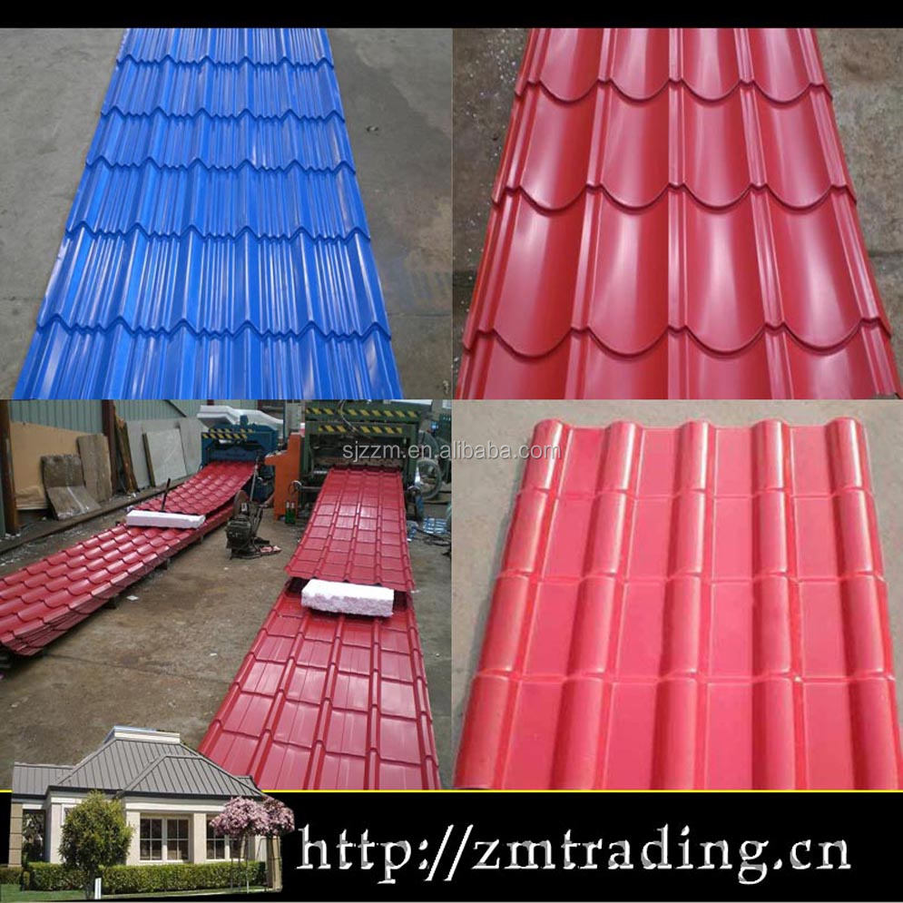chinese popular antique color metal steel roof tile