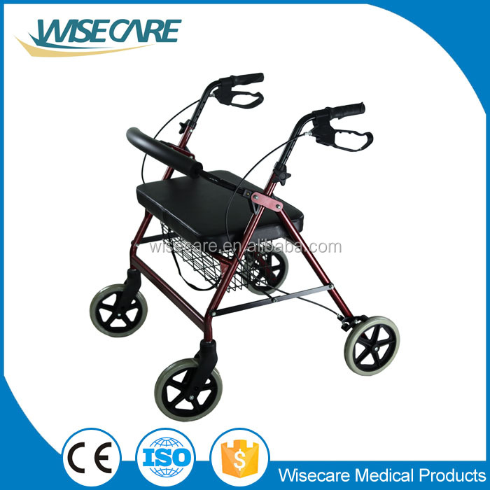 Extra Wide Steel Folding Rollator for Adult Walker with wheels