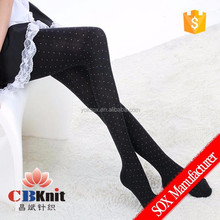 Ladies' Combed Cotton Stocking Girls' Leopard Knee High Socks
