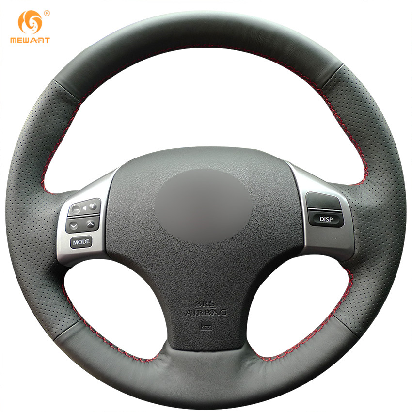 Black Leather Steering Wheel Cover for Lexus is250