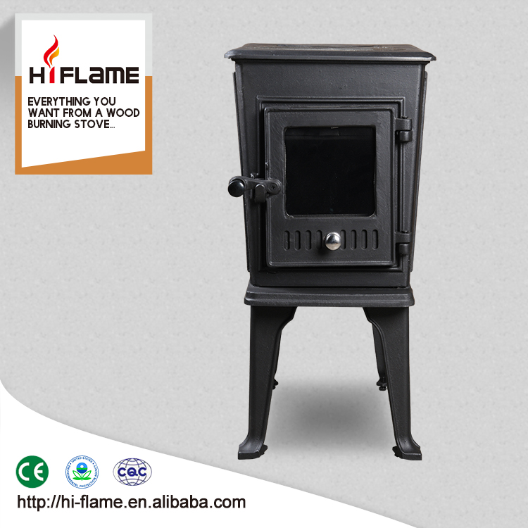 HiFlame The Smallest Model Indoor Cast Iron Small Wood Burning Stove and Fireplace HF706