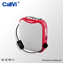 CallVi Mini Portable Handfree FM Radio Wireless Voice Amplifier with Microphone for Teacher Tour Guide Classroom