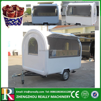 Hot dog vending cart 3 wheels/mobile ice cream carts/mobile fryer food cart