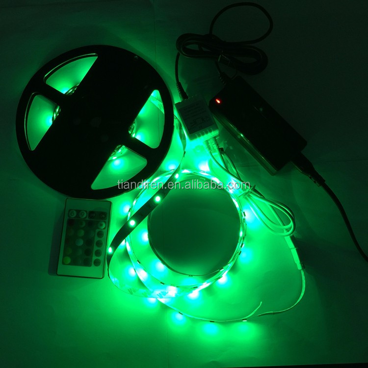 72LED/M 5050 SMD DC12/24V CE ROHS green LED flexible strip lights christmas holiday lighting easy install waterproof