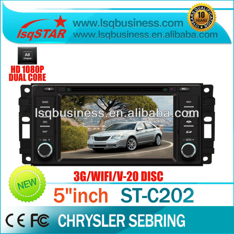 Wholesale Car DVD GPS for Dodge GRAND CARAVAN (2008-2011) with GPS Radio bluetooth ipod TV 20CDC 3G DVR A8 dual core