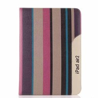 Fashion Streaks Leather Stand Flip for Ipad/Ipad 6 Case Cover