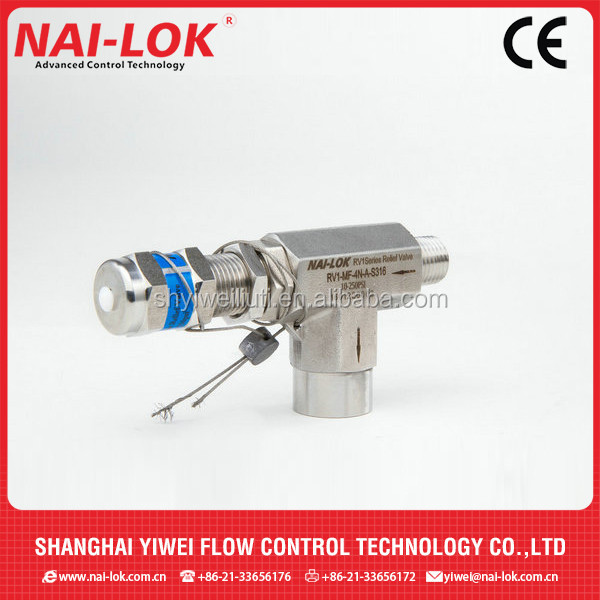 SS316 1/2 air pressure release valve or safety relief valve
