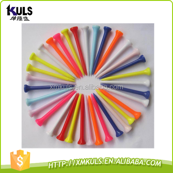 wholesale customized multicolor golf plastic tee