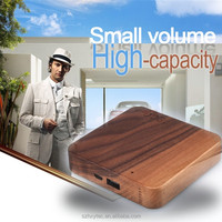 New arrival power bank external battery charger 7800mah wood battery charger