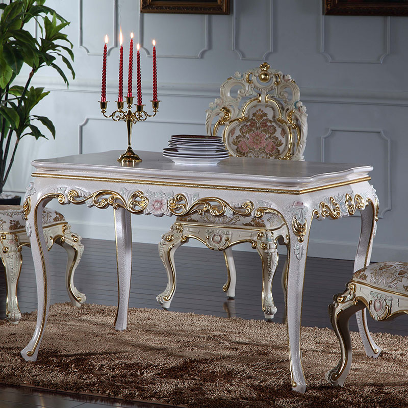 Italian french antique furniture - solid wood royalty dining <strong>table</strong>