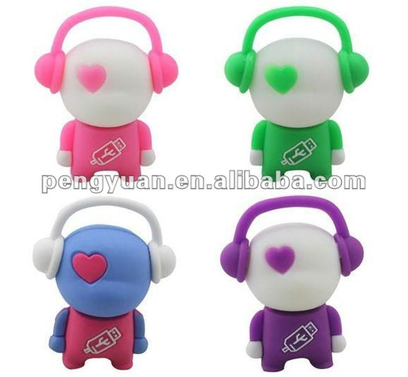 Music Man USB pen drive, Music boy USB thumb, Cartoon music usb (PY-U-326)