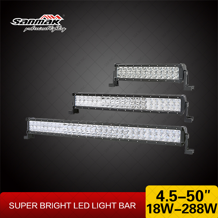 26 inch Waterproof Light Bar 144W CREE 12V Off Road Light Bar Car Accessories LED Light Bar for 4x4 Offroad