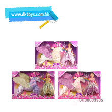 High Quality Dolls for Girls Candy Girl Princess Doll with Pegasus Toy