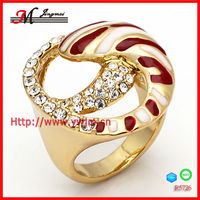 R5726 fashion enamel ring gold plating