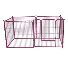 "High quality 32""-48"" wholesaler metal dog fence pink dog crate inmages outside or inside"