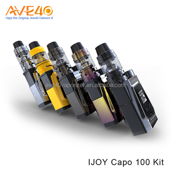 Firmware Upgradeable Ijoy Capo 100 Kit With 21700 20700 And 18650 Battery