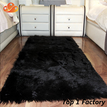 Hot sale wholesale acrylic sheepskin long hair large carpet