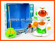 Kids Plastic 2 Ways RC Basketball Robot with Light and Sound