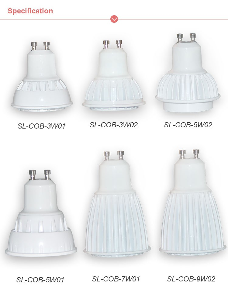 3W 5W 7W high power led bulb gu10, COB led spotlight ,700lm high bright high quality 7w led spotlight gu10