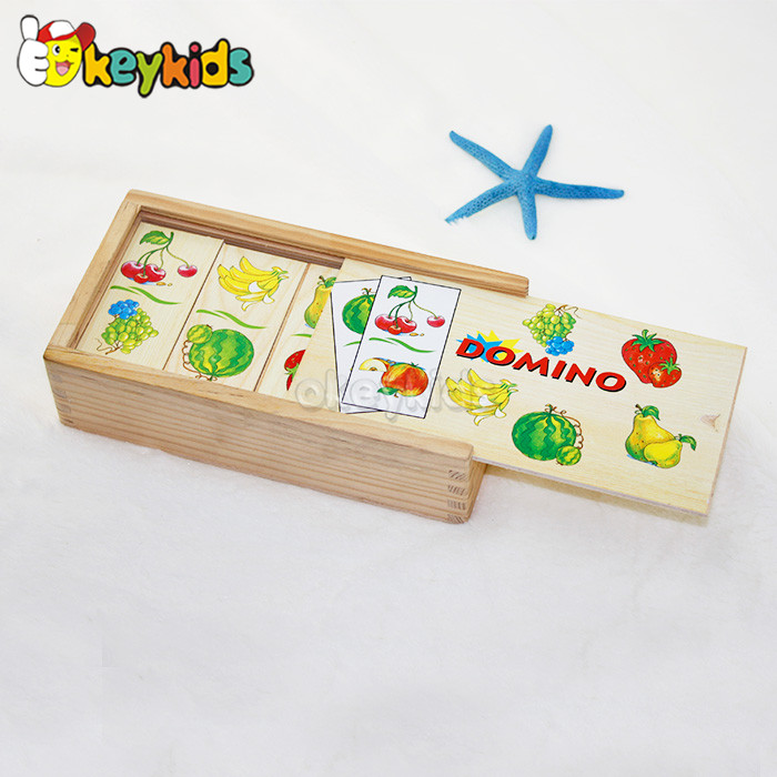 2016 wholesale baby brick domino game set ,fashion kids brick domino game set,children brick domino game set W15A064