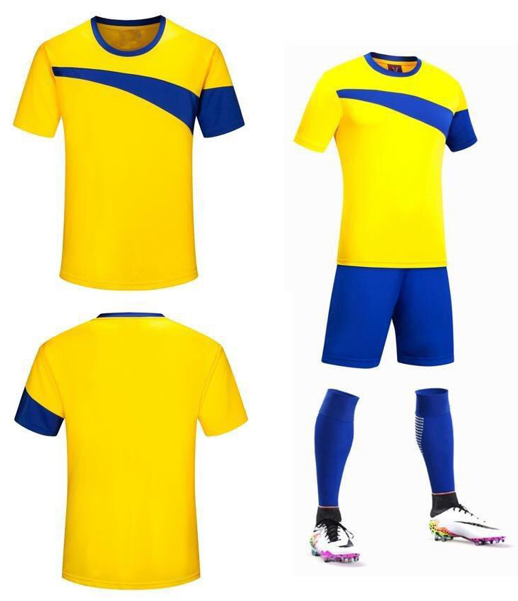 High quality custom dri fit soccer jerseys football kit full set 2016 cheap soccer uniform football t-shirt