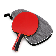 In Stock International Standard 7 Layers Wood Carbon Training Racket Ping Pong Paddle Table Tennis Bat with 2mm Rubber Sponge