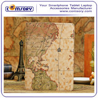 Map Design PU leather Smart Cover Case Stand for APPLE iPad Air 9.7 inch Tablet PC