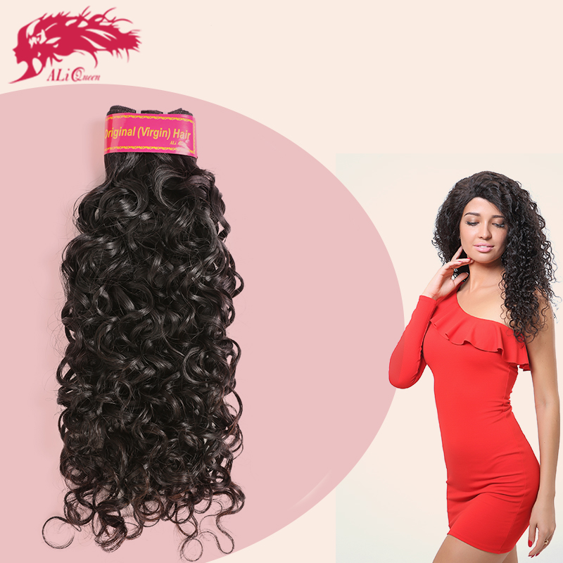 ALI Queen French Curly Brazilian Water Wave Cuticle Aligned Hair