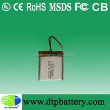 Powerful li-ion 3.7v 1000mah lithium-ion/ li po battery