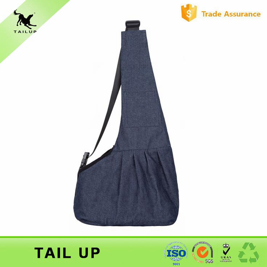 Denim Fabric Pet Carrier Airline Newest Pet Products Dog Sling Carrier