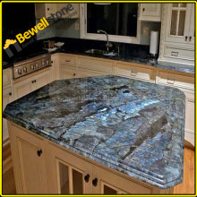 Prefabricating labradorite countertop table top, luxury design labradorite blue kitchen countertop